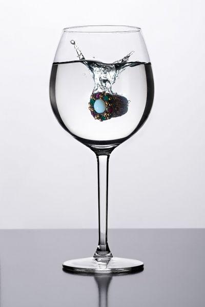 anello con splash still life jewellery