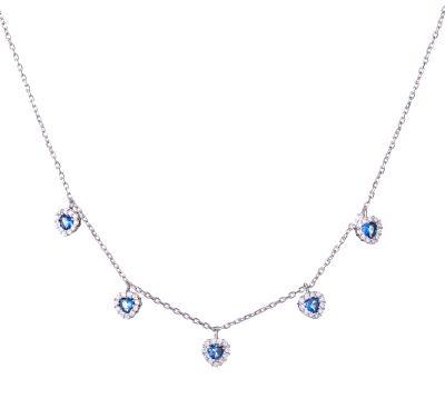 collana argento con pietre blu