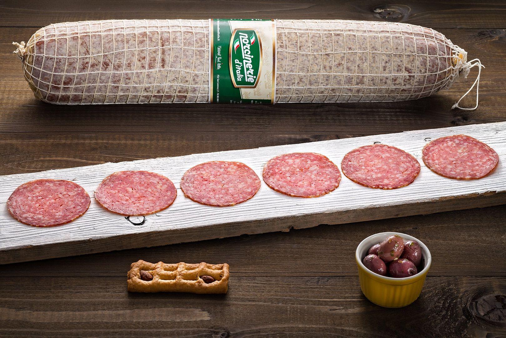 still life food per salumificio salame milano